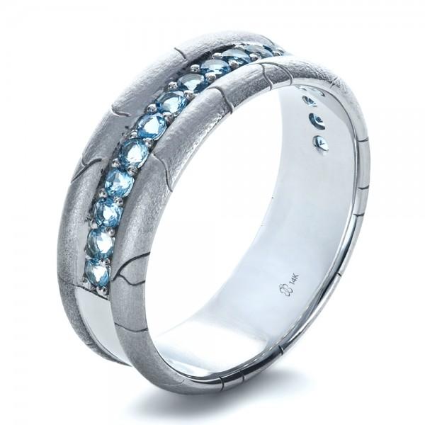 Men Wedding Rings Jewelry Men 39 S Wedding Bands Men 39 S Custom Ring With Aquamarine