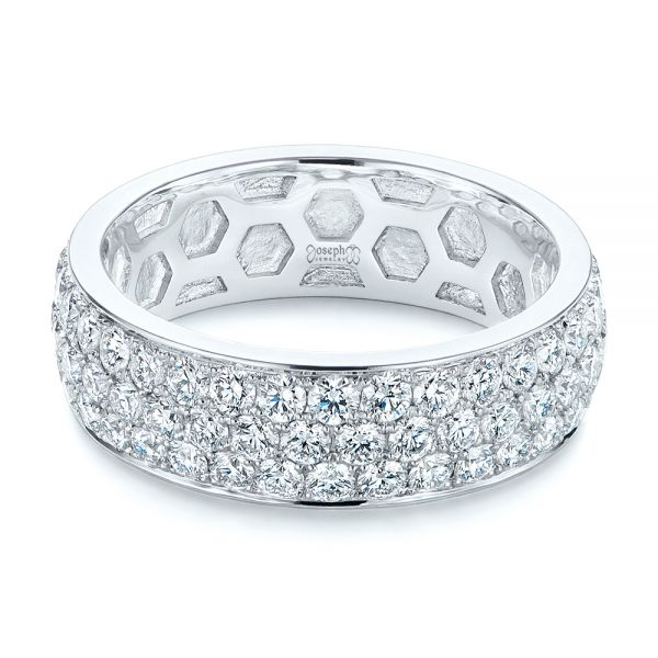 Men's Diamond Pave Hexagon Eternity Band