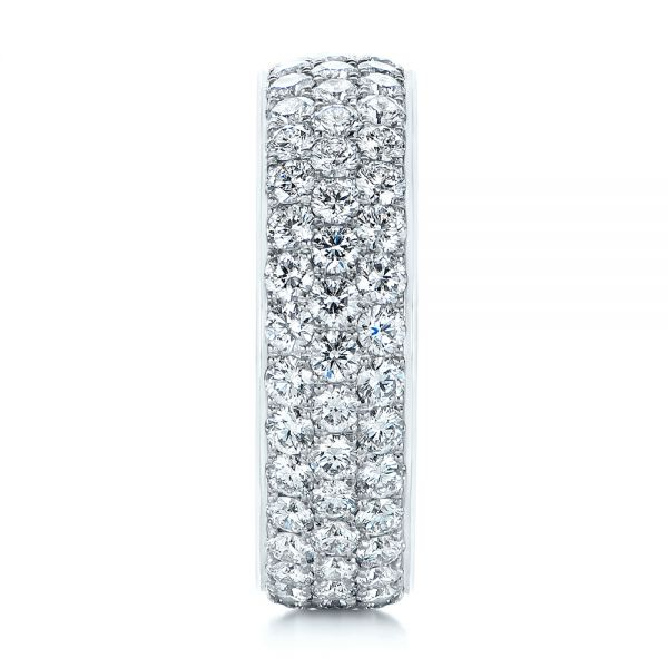 Platinum Men's Diamond Pave Hexagon Eternity Band - Side View -  105233