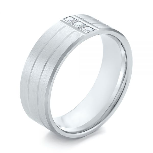 Men's Diamond Wedding Band - Image