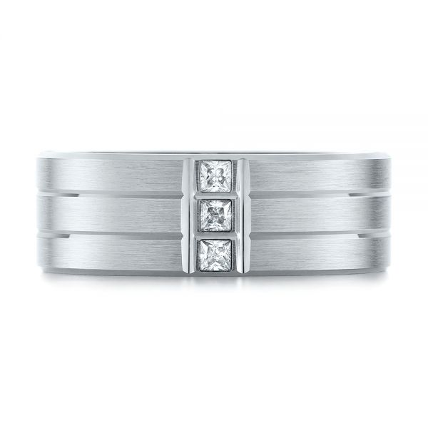 Men's Diamond Wedding Band - Top View -  103975