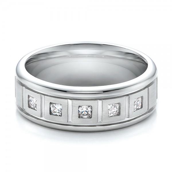 Men's Diamond Wedding Band - Laying View