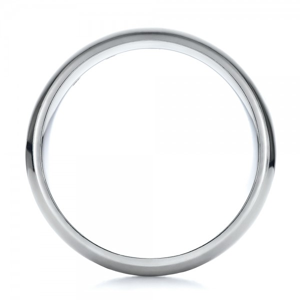 Men's Diamond Wedding Band - Finger Through View