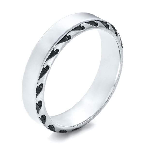 Men's Engraved Wedding Band - Image