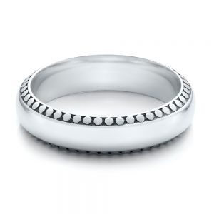 Men's Engraved Wedding Band