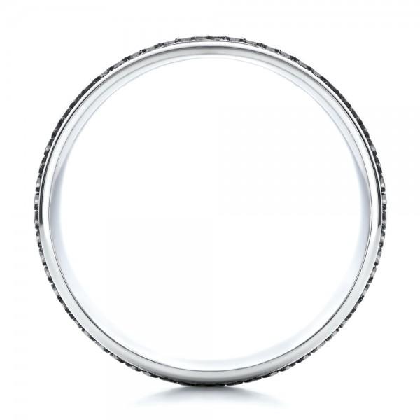 Men's Engraved Wedding Band - Finger Through View