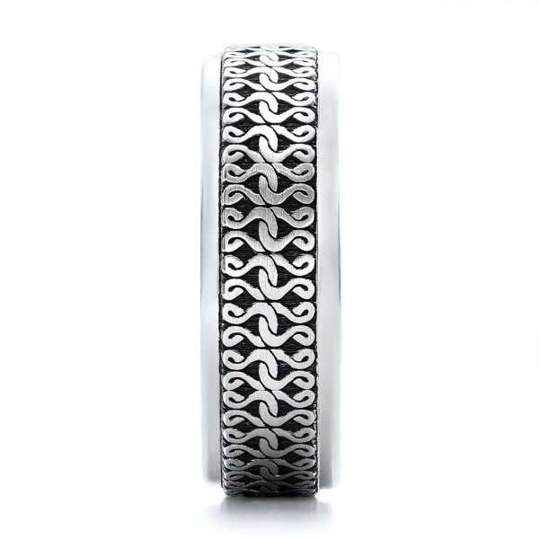 Men's Engraved Wedding Band - Side View