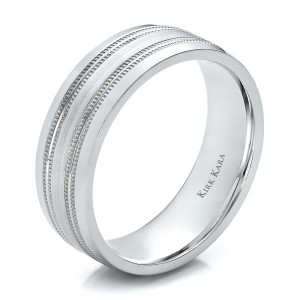 Brushed Finish Men's Wedding Band - Kirk Kara