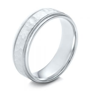 Men's Hammered Finish Palladium Band - Image