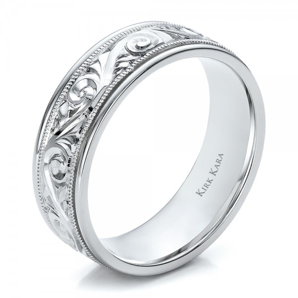 Hand Engraved Mens Wedding Band Kirk Kara 100671
