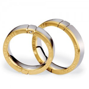 Men's Inscribed Platinum, Yellow Gold and Diamond Band