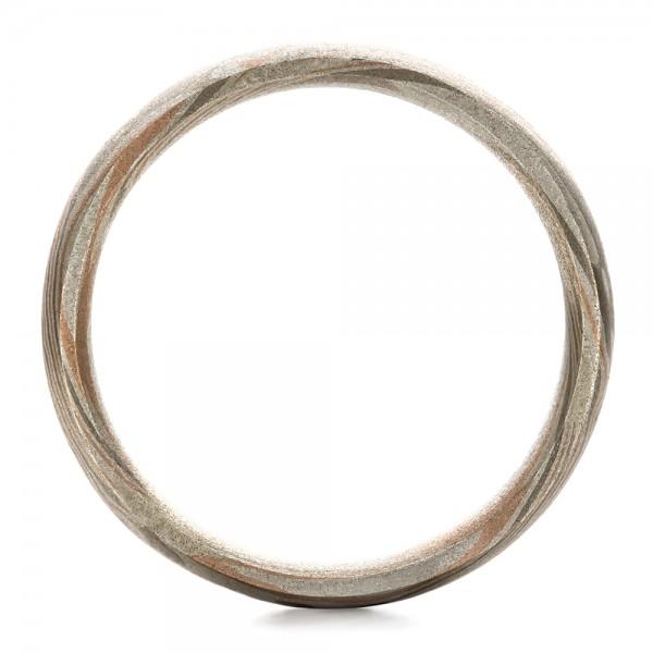 Men's Mokume Band - Finger Through View