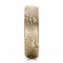 Men's Mokume Half Round Band - Side View -  100523 - Thumbnail