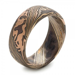 Men's Mokume Wedding Band