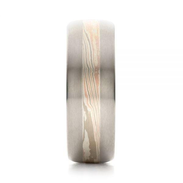 Men's Mokume Wedding Band - Side View -