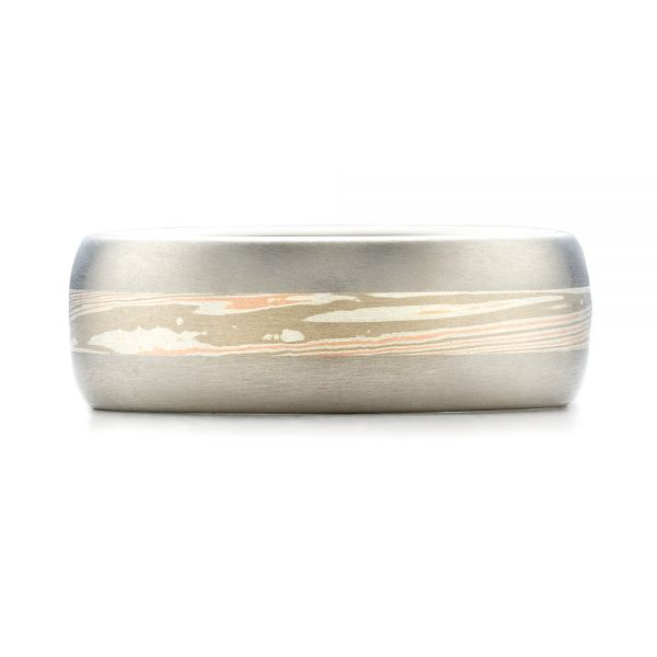Men's Mokume Wedding Band - Top View -