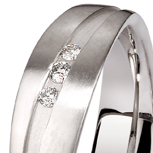 Men's Platinum and Diamond Band