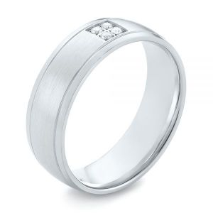 Men's Quad Diamond Wedding Band - Image