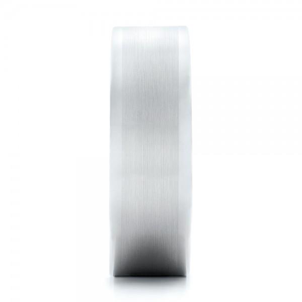 Men's Satin Finish White Tungsten Band - Side View