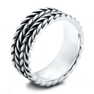 Men's Sterling Silver Braided Band - Image