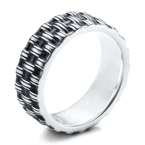 Men's Sterling Silver Woven Band