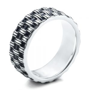 Men's Sterling Silver Woven Band - Image