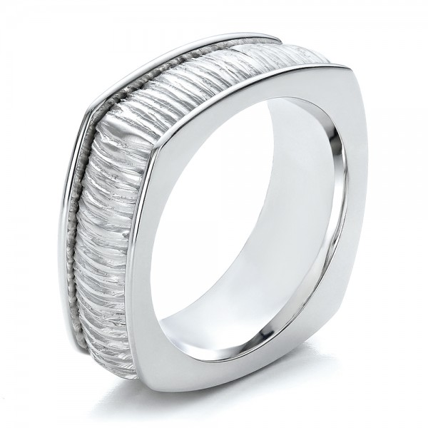 Men's Textured Wedding Band