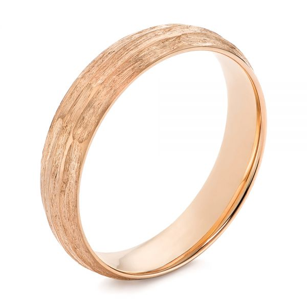 Men's Textured Wedding Band - Image