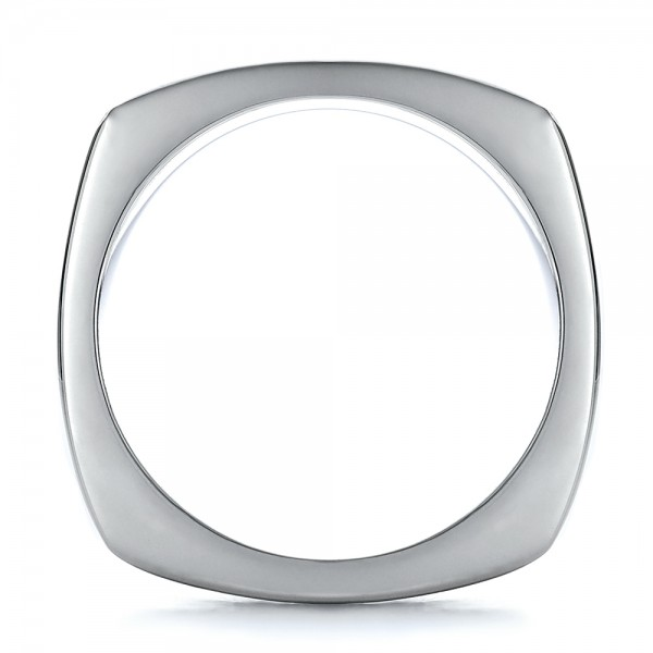 Men's Textured Wedding Band - Side View