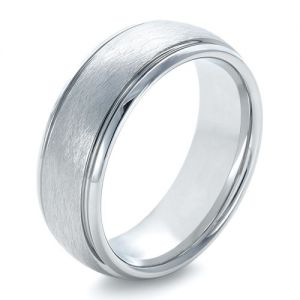 Men's Tungsten Ring Contrasting Finish - Image