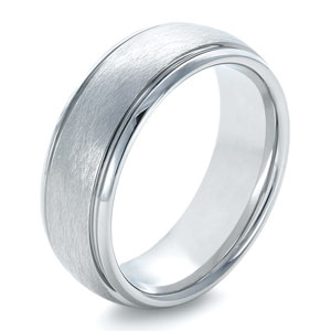Men's Tungsten Ring Contrasting Finish