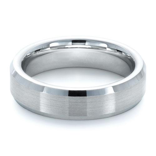 Men's Tungsten Ring - Laying View