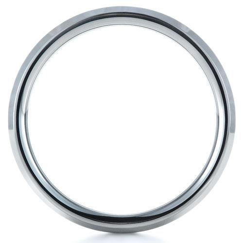 Men's Tungsten Ring - Finger Through View
