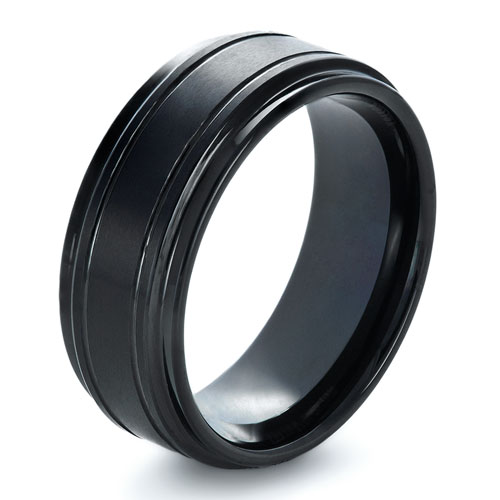 Men's Tungsten Ring with Side Rails