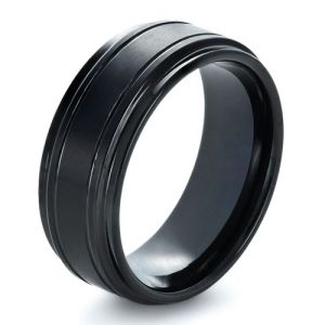 Men's Tungsten Ring with Side Rails - Image