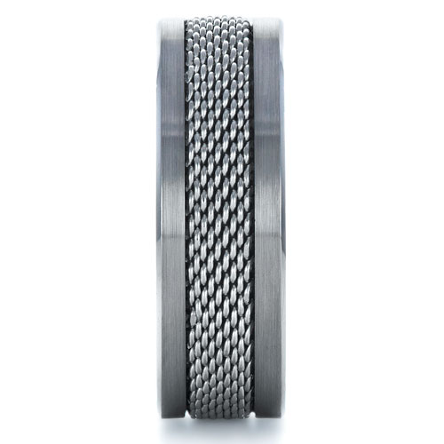 Men's Tungsten & Steel Ring - Side View