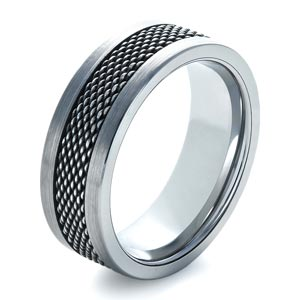 Men's Tungsten and Stainless Steel Ring