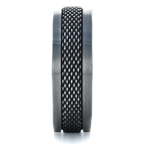 Men's Tungsten and Stainless Steel Ring - Side View