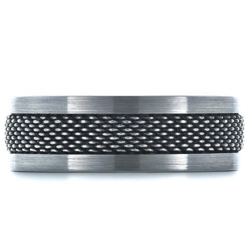 Men's Tungsten and Stainless Steel Ring - Top View