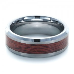 Men's Tungsten and Wood Inlay Ring