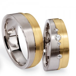 Men's Two-Tone Diamond Band