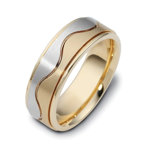 Men's Two-Tone Gold Band - Image