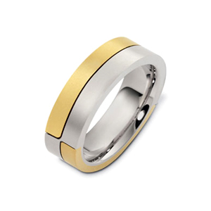 Men's Two-Tone Gold Band