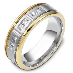 c02679a60fef8 Men's Two-Tone Gold and Diamond Band