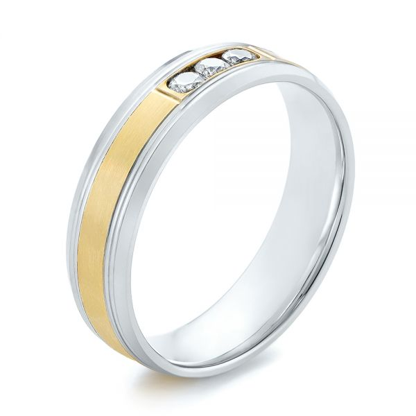 Men's Two-Tone Wedding Band