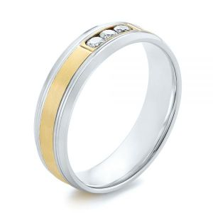 Men's Two-Tone Wedding Band - Image