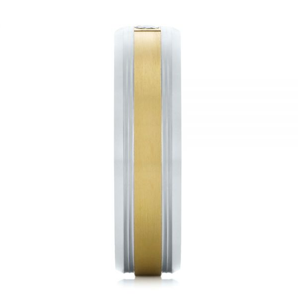 Men's Two-tone Wedding Band - Side View -