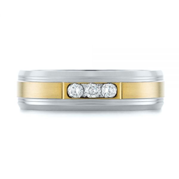 Men's Two-tone Wedding Band - Top View -