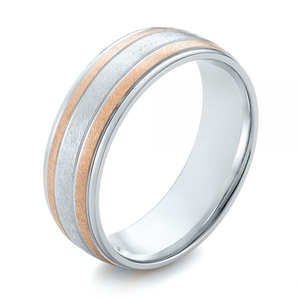 14K Men's Wedding Band - Three-Quarter View -  103964 - Thumbnail