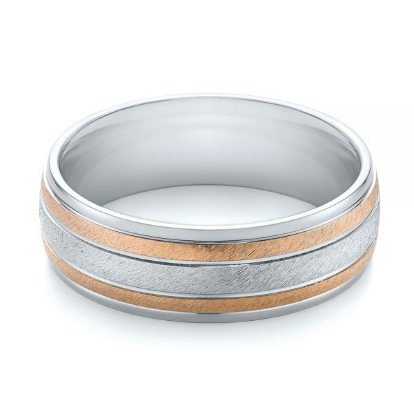 14K Men's Wedding Band - Flat View -  103964 - Thumbnail